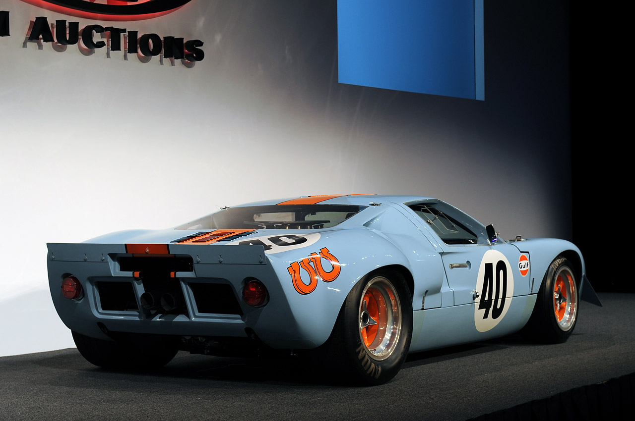 1968 Ford Gt40 Gulf Mirage Auctioned For A Record 11