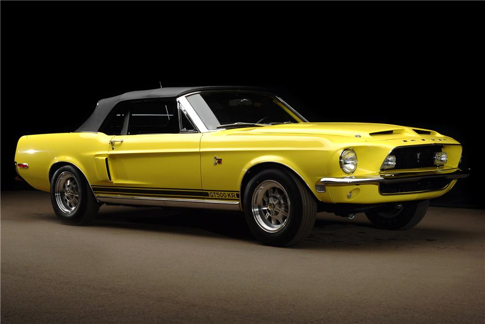 1968 shelby gt500kr convertible sells for 308k at barrett