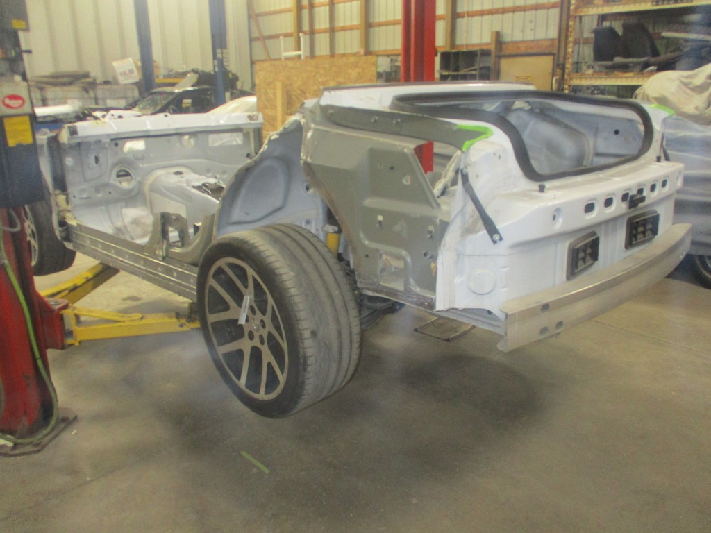 Dodge Charger Body Dropped Onto Challenger Hellcat Shell In Monster Swap on 1969 Camaro Suspension