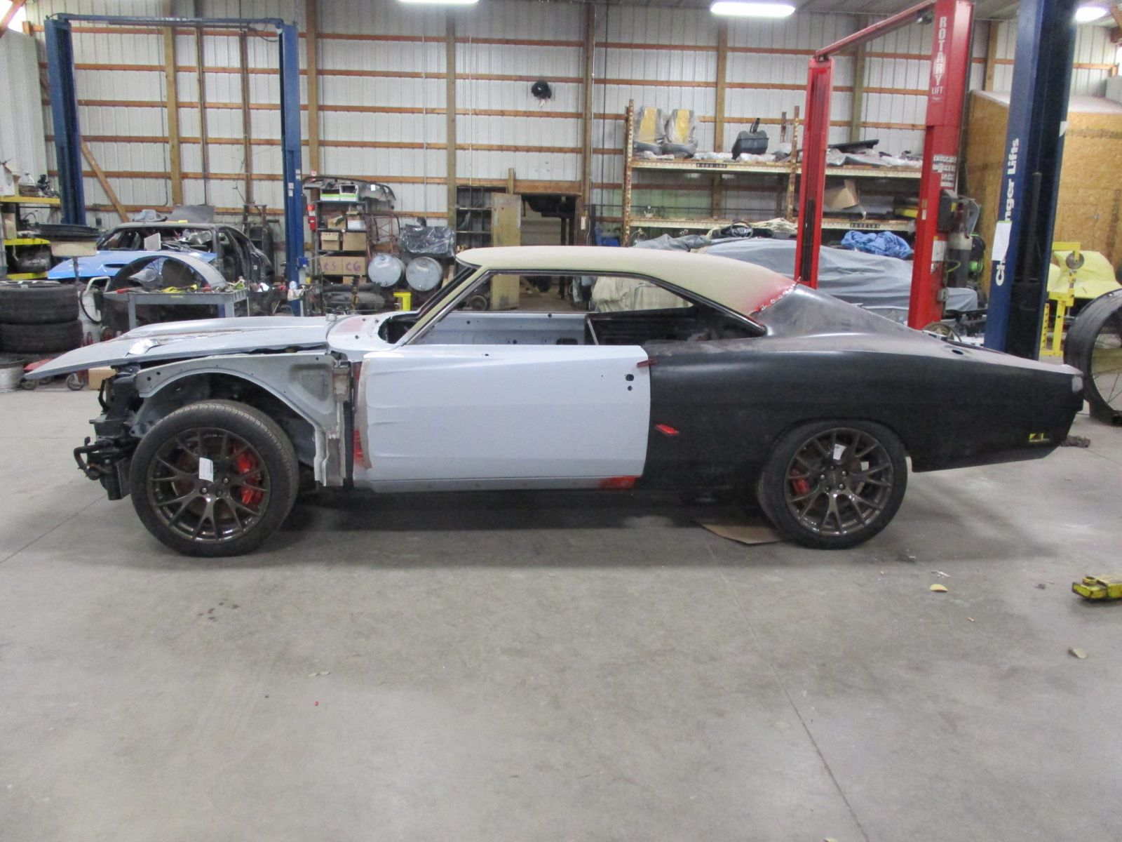 1969 Dodge Charger Body Dropped Onto Challenger Hellcat