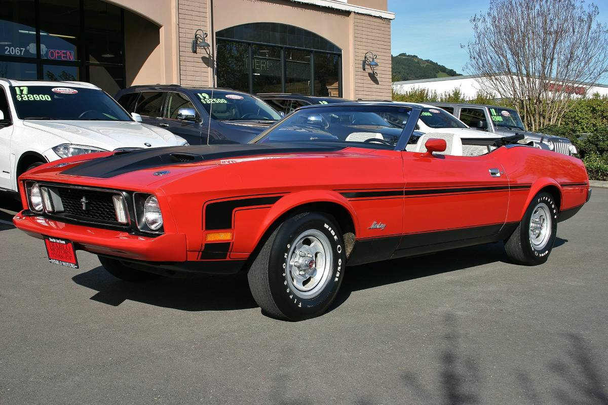 1973 Ford Mustang Convertible Is a One in a Million Barn Find - autoevolution