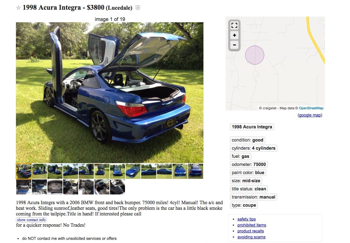 Craigslist Find: 1998 Acura Integra with 2006 BMW 5 Series Looks