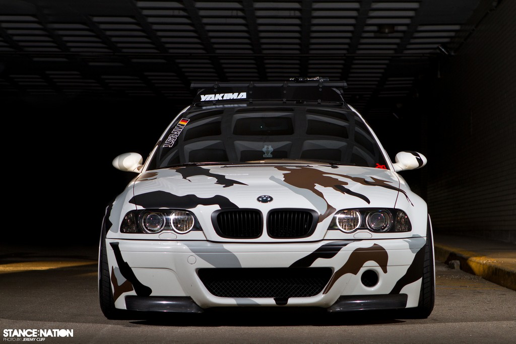 2004 Bmw M3 Sports Arctic Camouflage Wrap Autoevolution