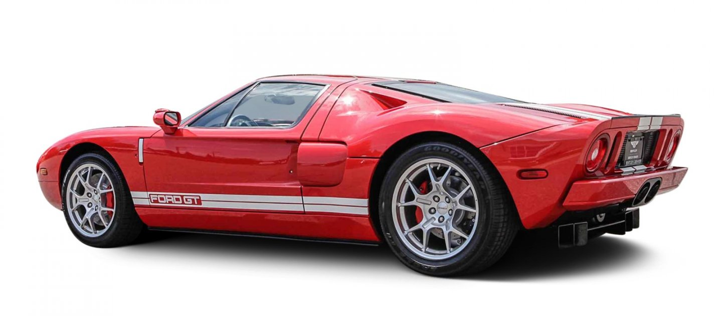 2005 ford gt with 9 miles on the clock