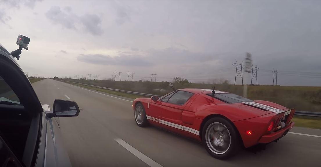 Ford Gt Vs Shelby Mustang Gt Drag Race