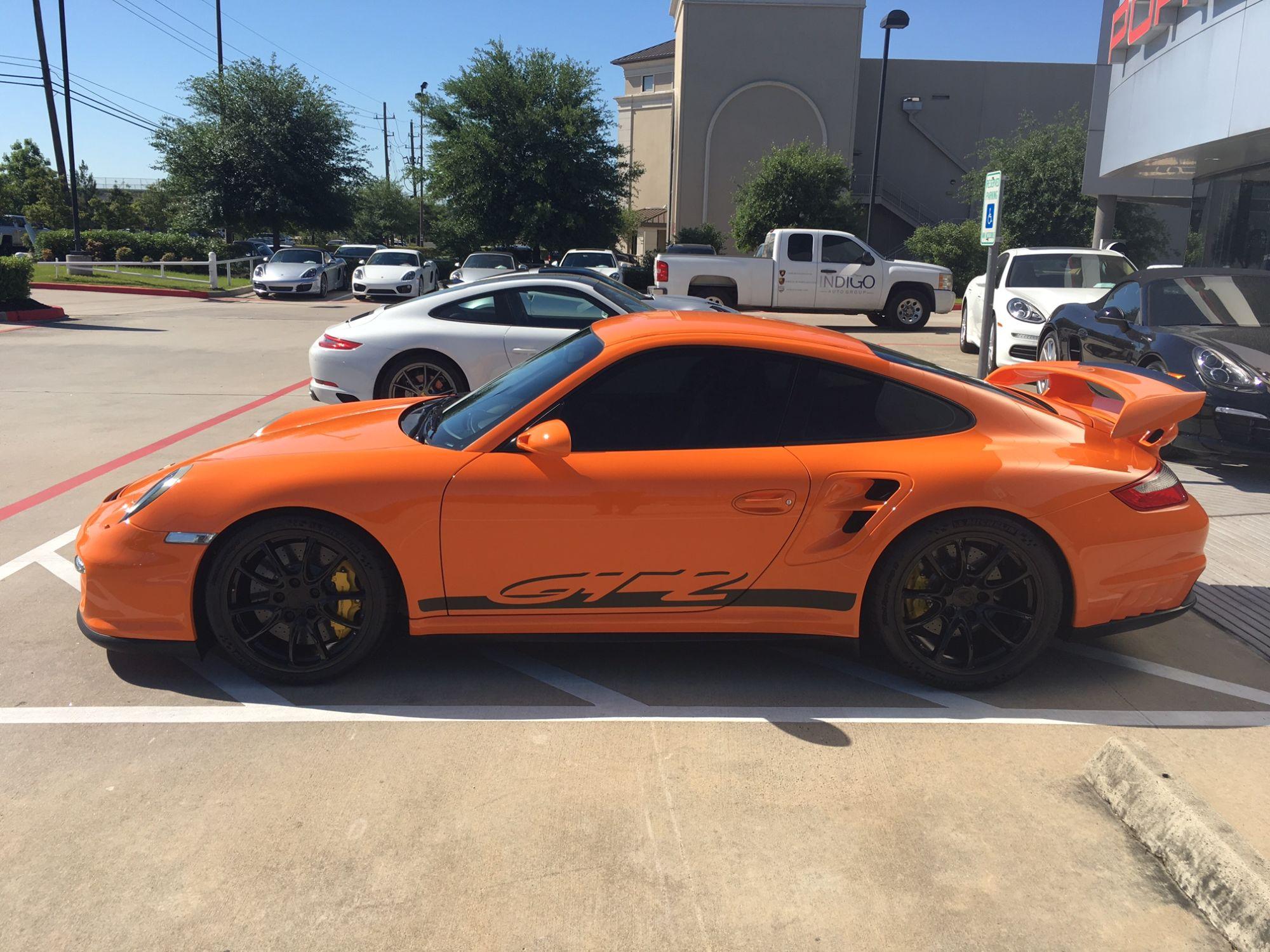 2009 porsche 911 gt2 in pts orange for sale at 410 000 autoevolution. Black Bedroom Furniture Sets. Home Design Ideas