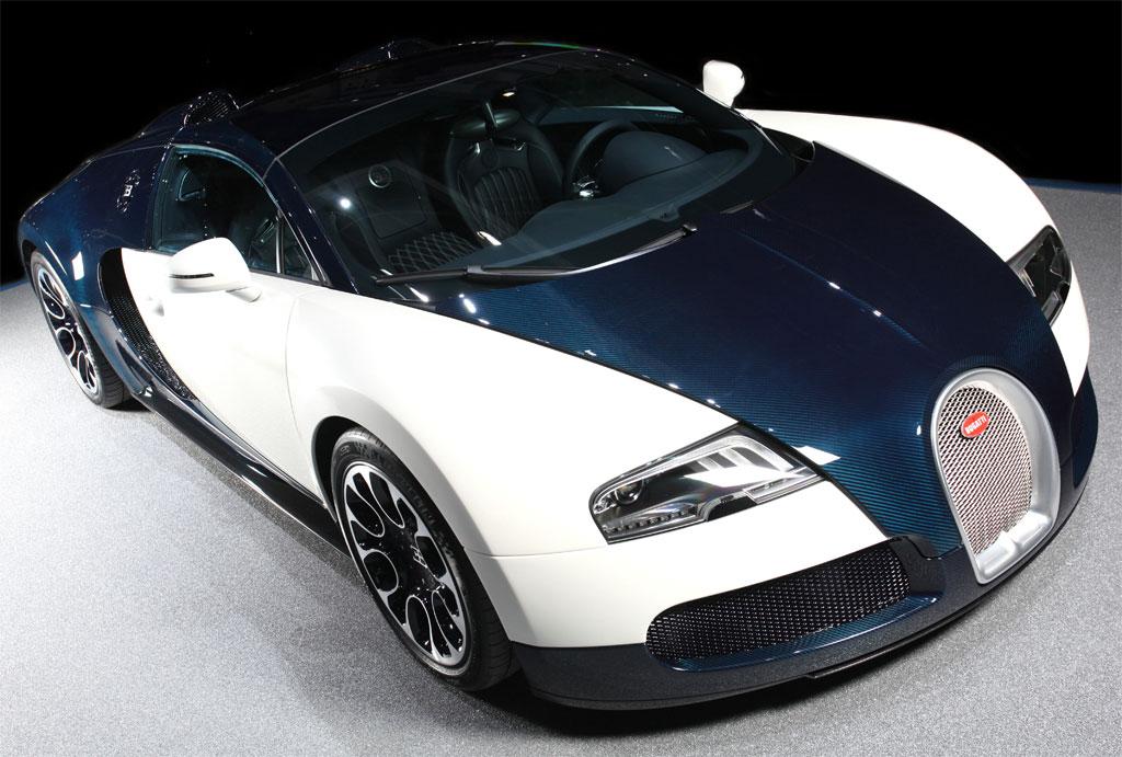 2010 Geneva Auto Show: Bugatti Veyron Grand Sport Blue Carbon