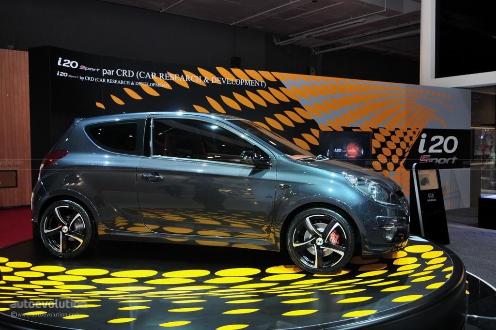 2010 paris auto show hyundai i20 sport edition by brabus live photos autoevolution. Black Bedroom Furniture Sets. Home Design Ideas