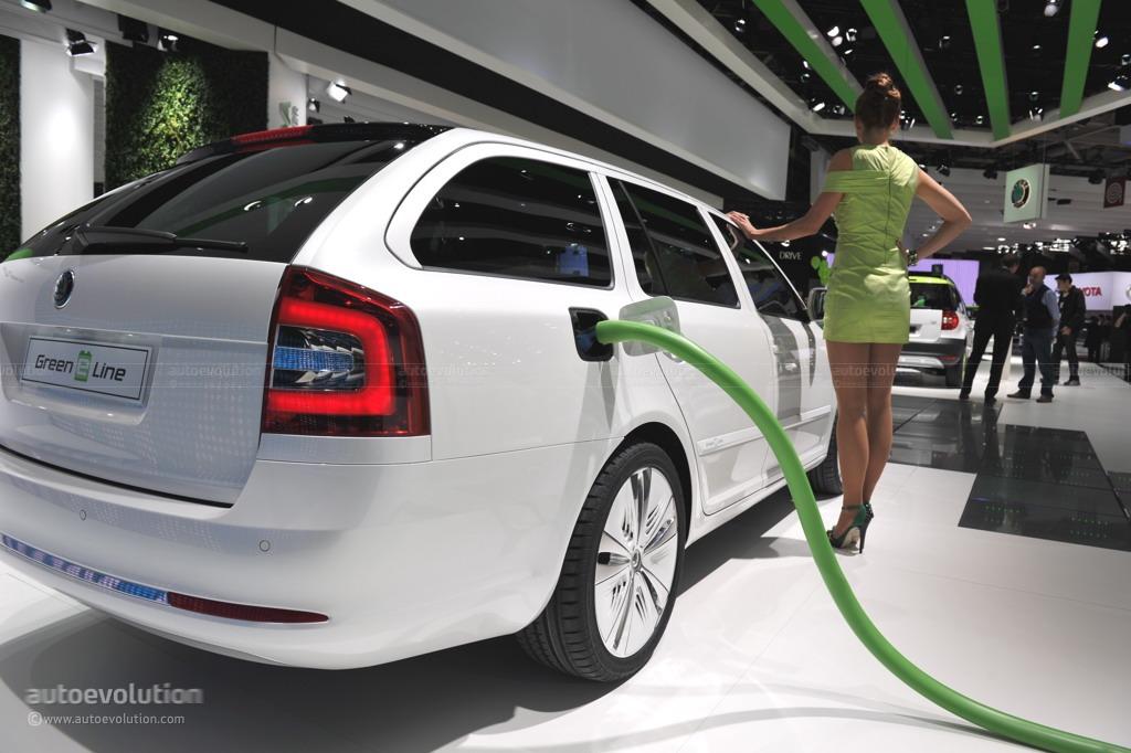 2010 Paris Auto Show: Skoda Octavia Green E Line Concept ...