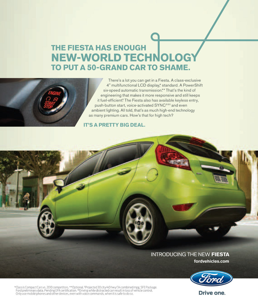 new ad campaign for 2011 ford fiesta