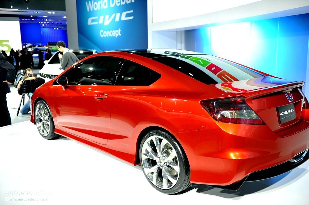 2011 Naias Honda Civic Si Coupe Concept Live Photos