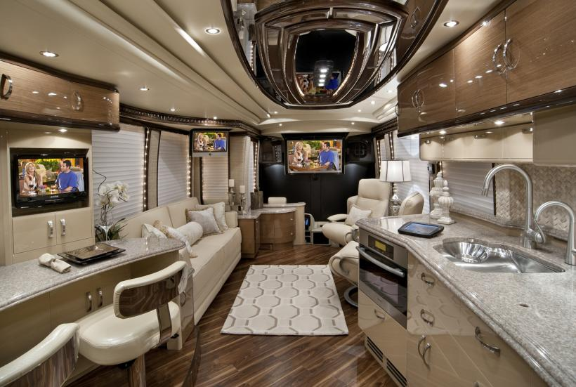 2012 elegant lady luxury motor coach introduced for Million dollar motor coaches