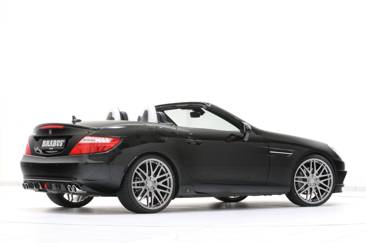 2012 mercedes slk gets the brabus makeover autoevolution. Black Bedroom Furniture Sets. Home Design Ideas