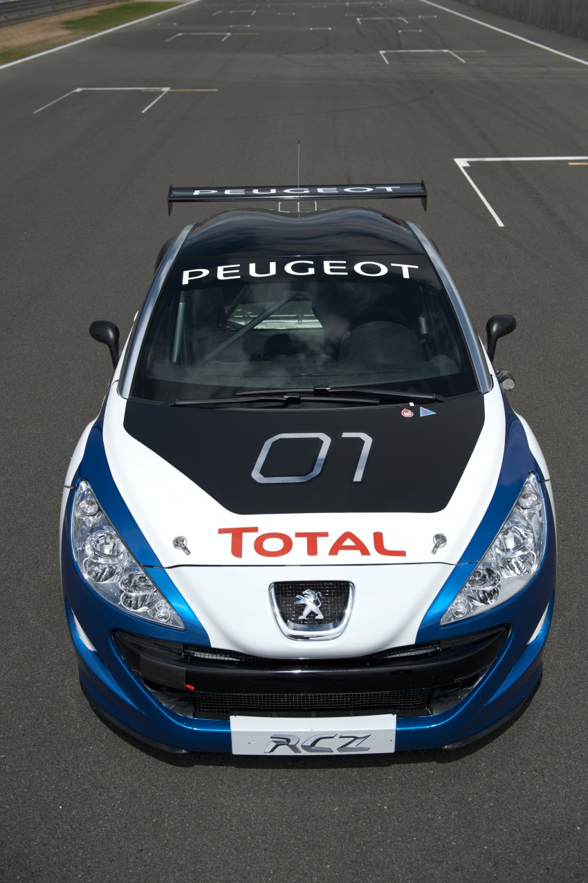 2012 Peugeot Rcz Race Car Unveiled Video Autoevolution