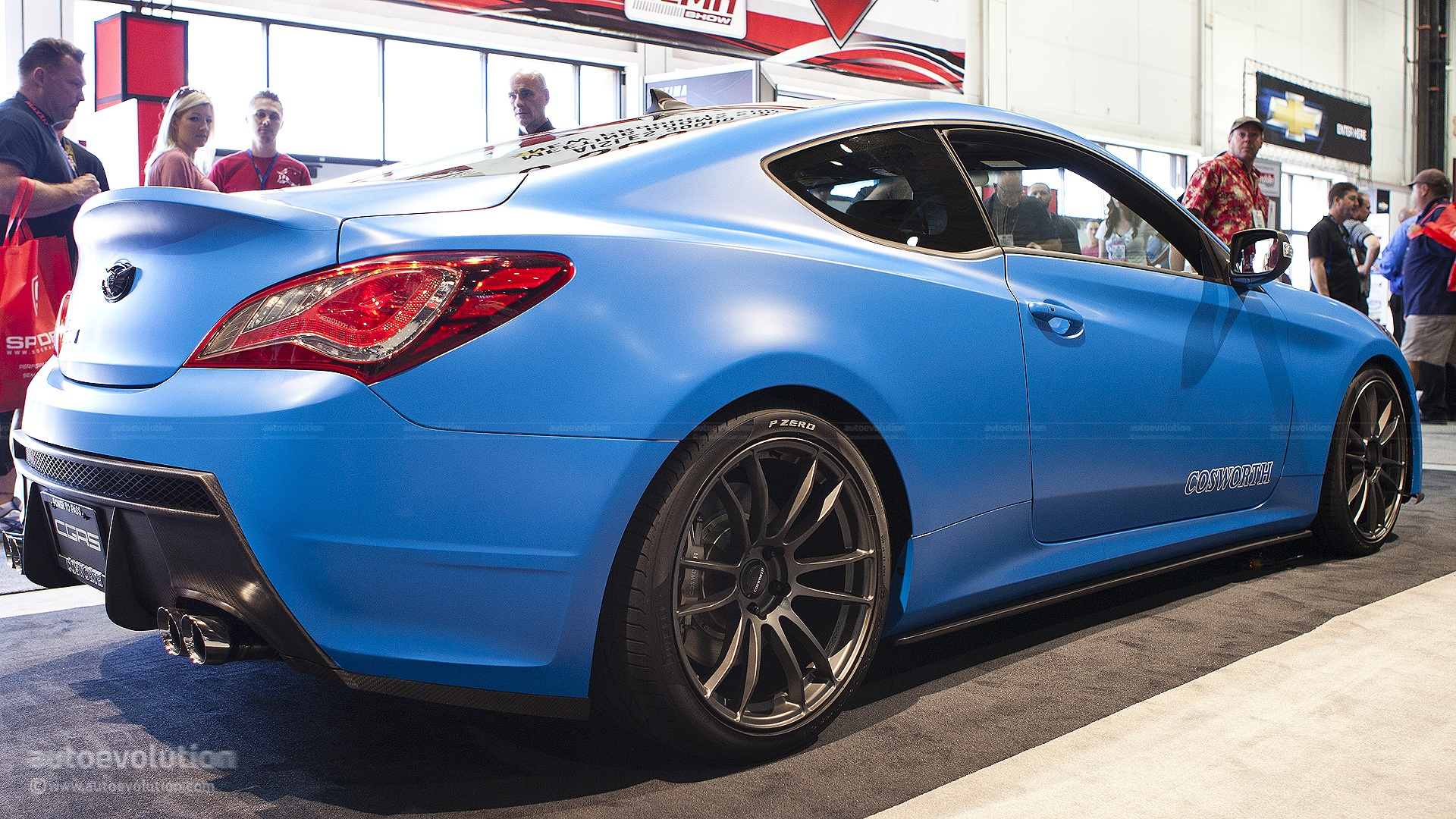 2012 Sema The Cosworth Hyundai Genesis Coupe Racing Live