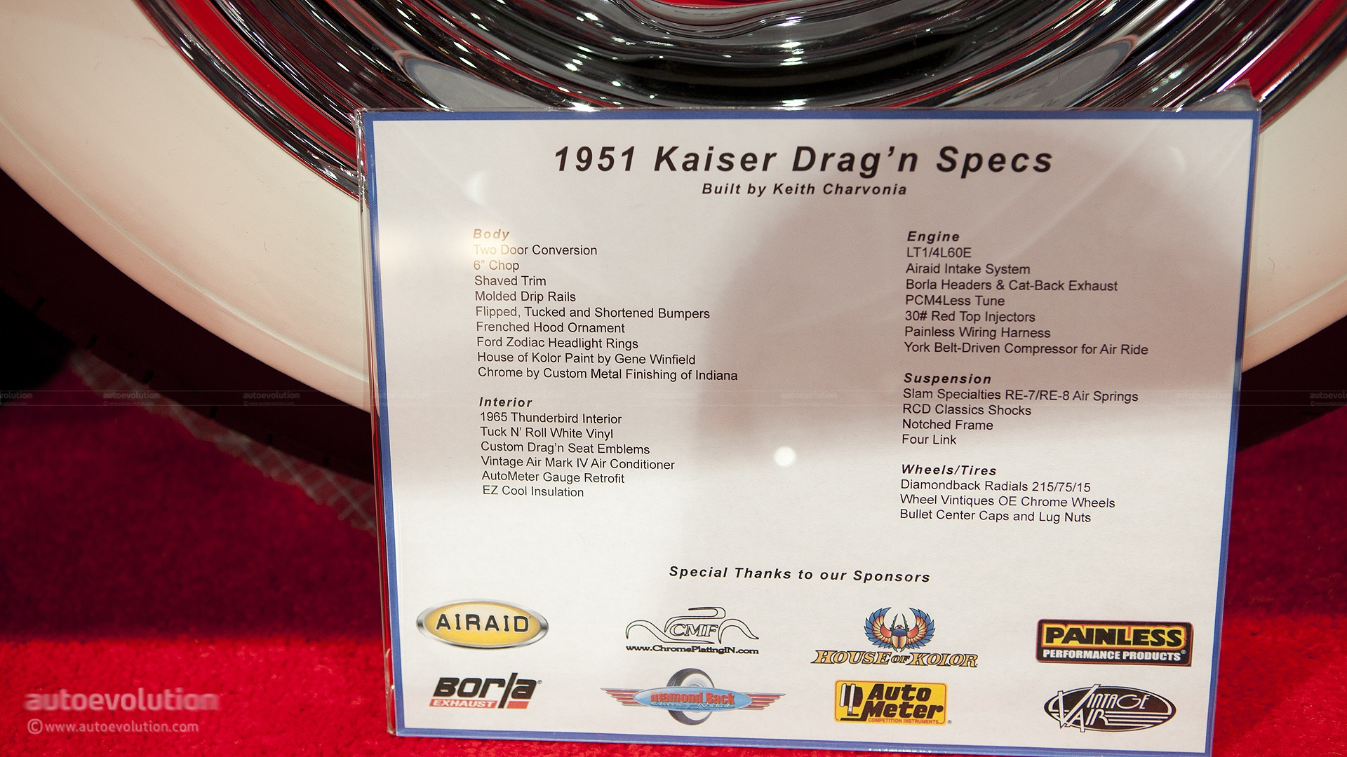 2012 Sema The Very Long And Low Kaiser Draggn Live Photos Wiring Harness Vinyl 1951
