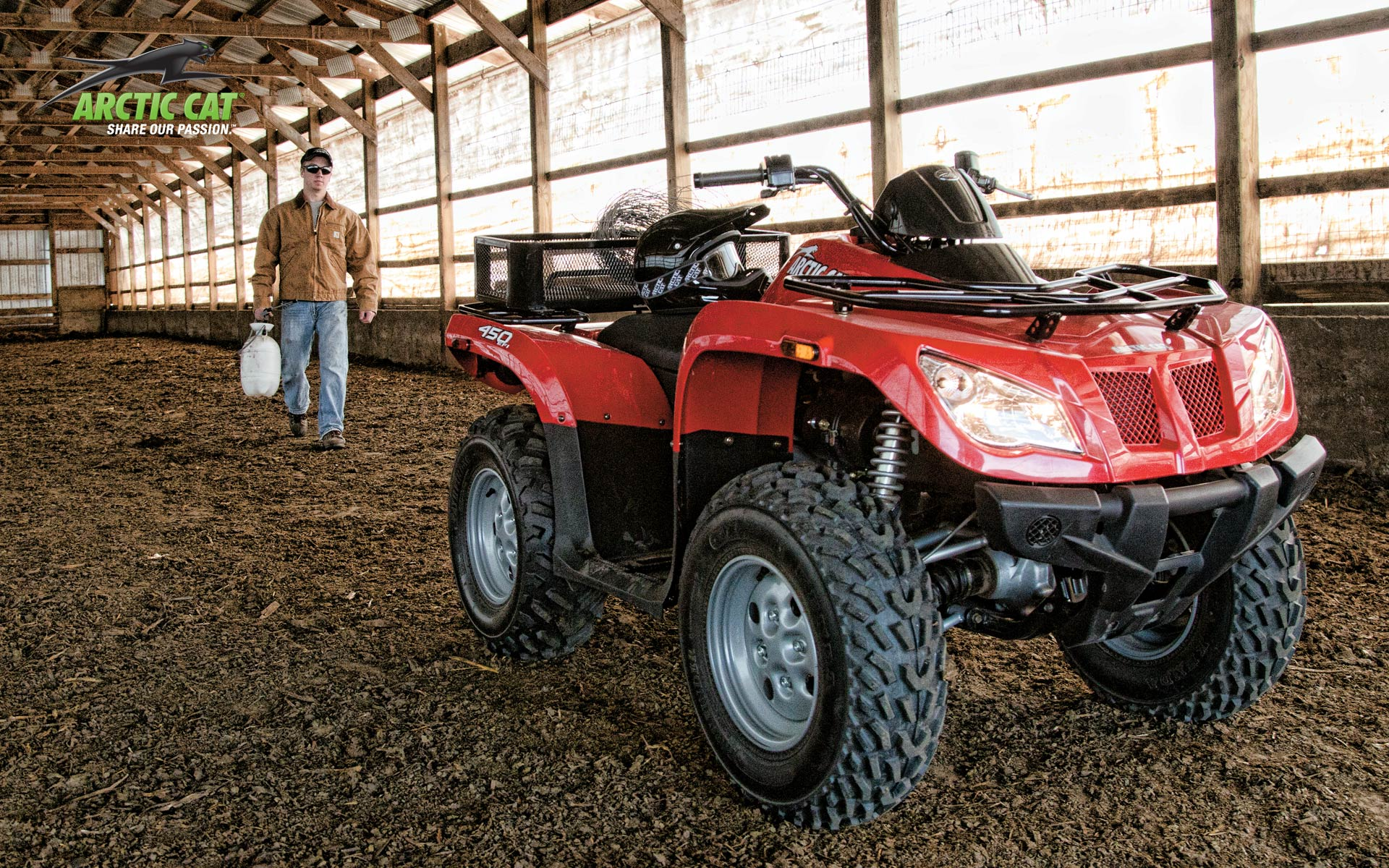 2013 arctic cat 450 core an atv for the farm and fun. Black Bedroom Furniture Sets. Home Design Ideas