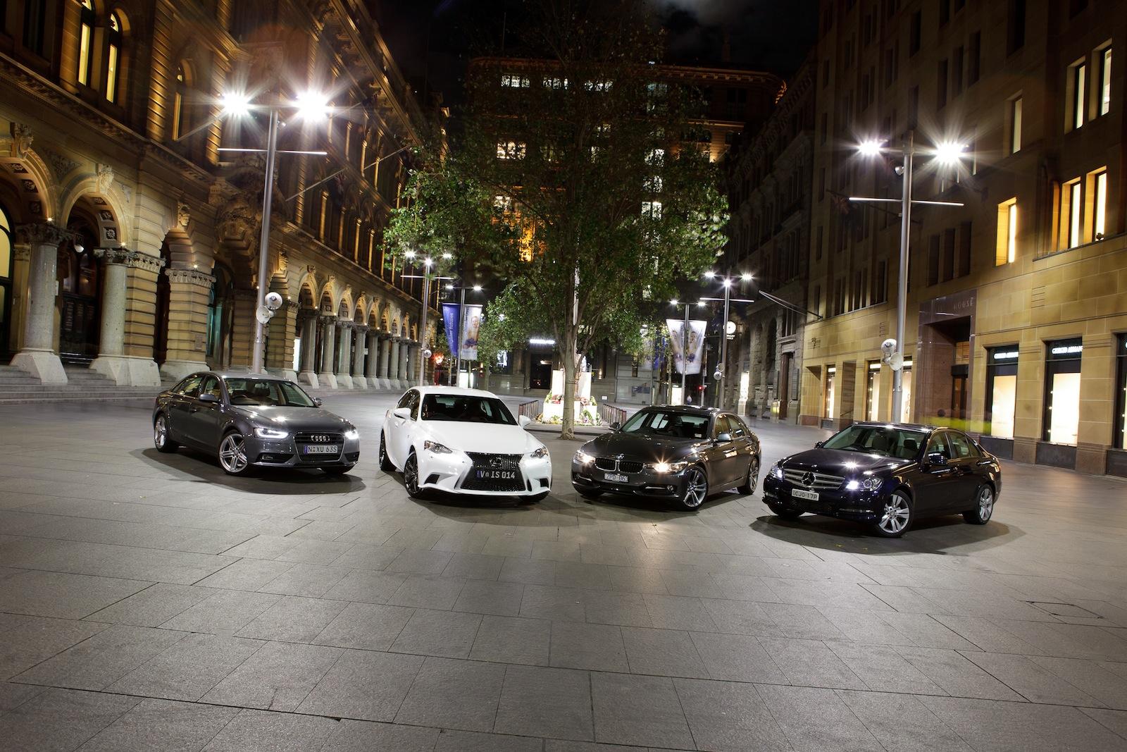 2013 BMW 320i vs Audi A4 vs Mercedes-Benz C200 vs Lexus IS 250 Comparison - autoevolution