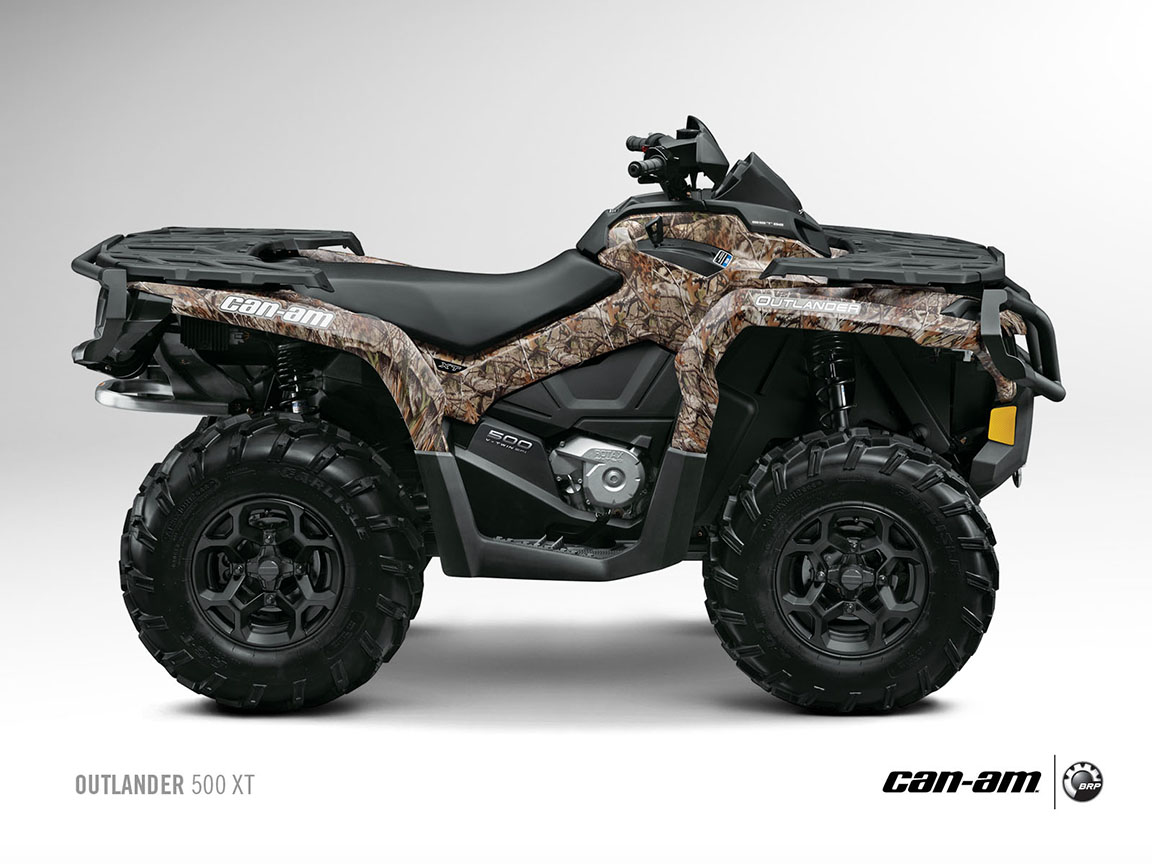 2013 Can-Am Outlander XT ATVs Are Good and Look Evil ...