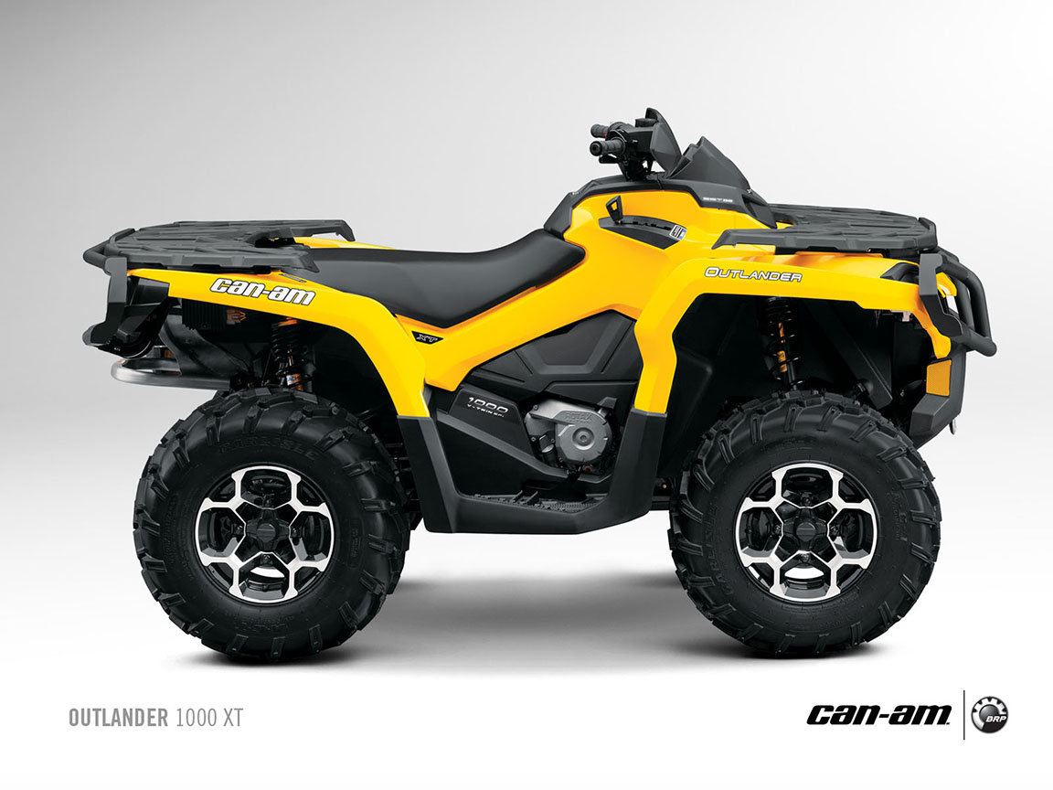 2013 Can-Am Outlander XT ATVs Are Good and Look Evil - autoevolution