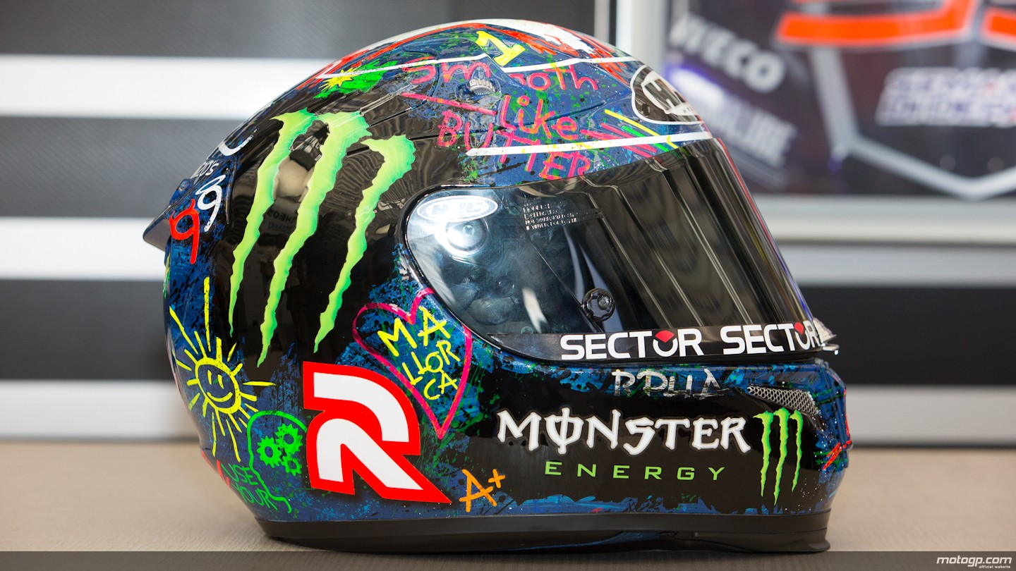 "2013 MotoGP: Lorenzo Shows ""Graffiti"" Helmet Design for Catalunya - autoevolution"