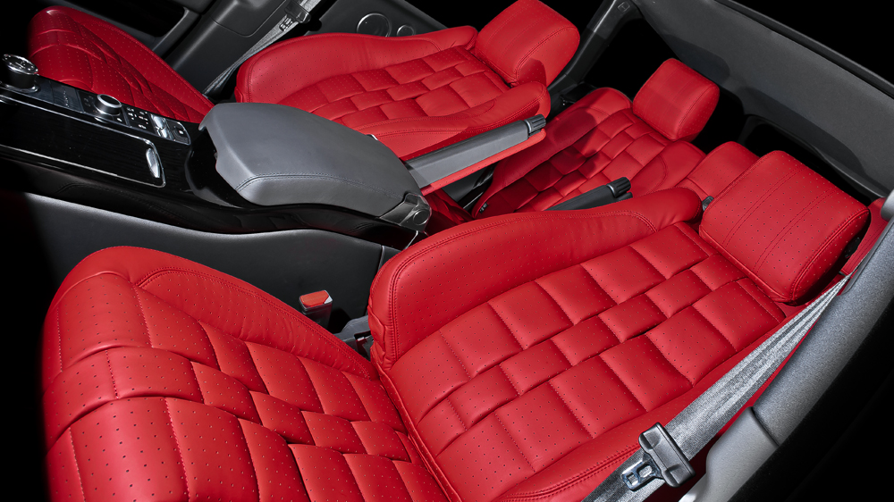 2013 Range Rover Gets Kahn Red Leather Interior