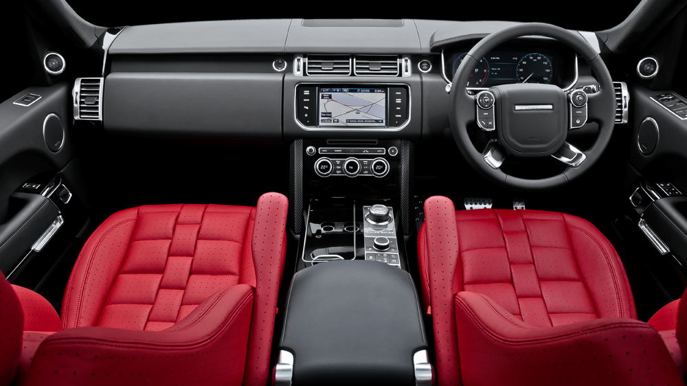 2013 Range Rover Gets Kahn Red Leather Interior ...