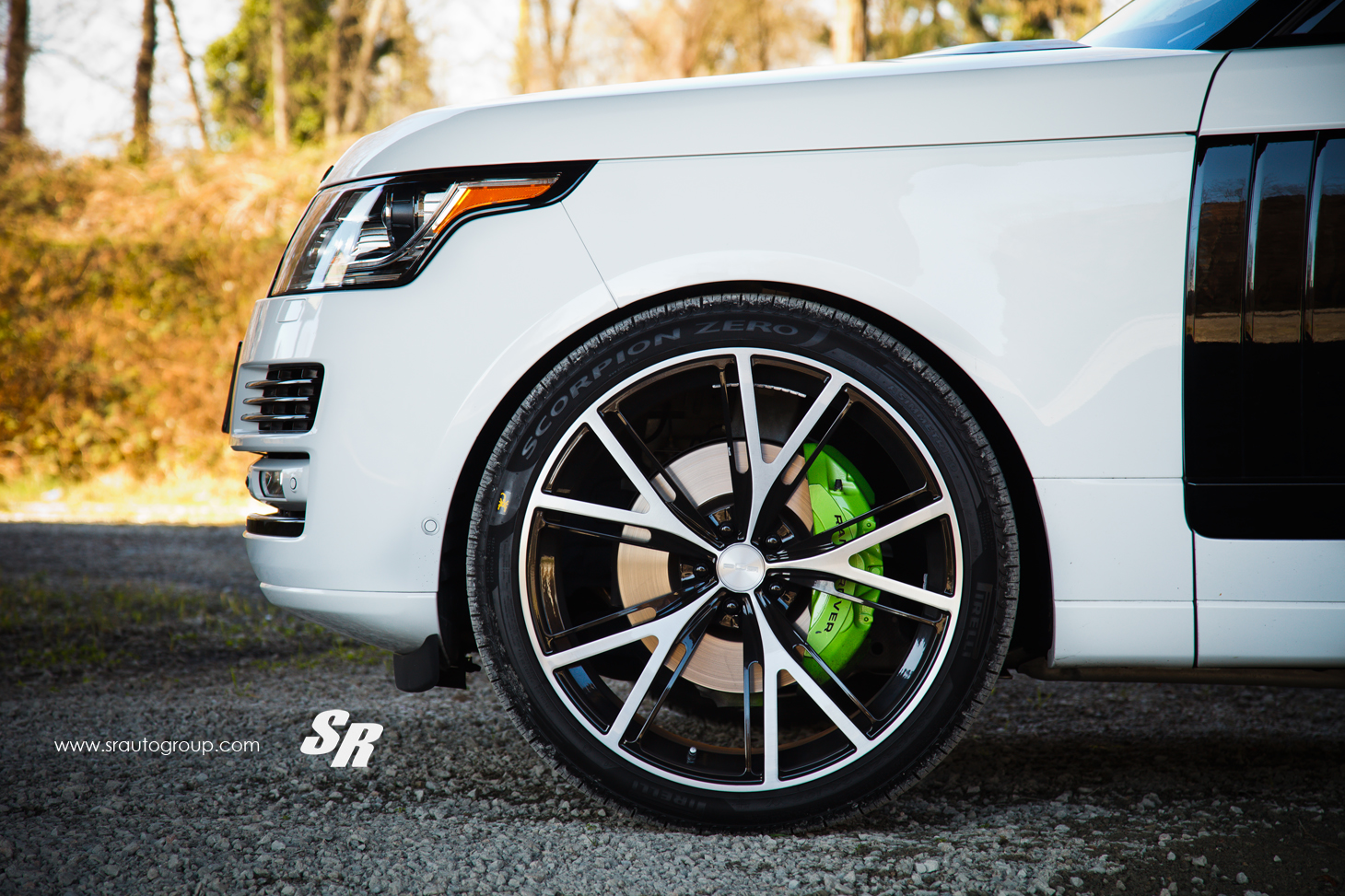 2013 Range Rover Gets Pur Wheels Lambo Green Calipers