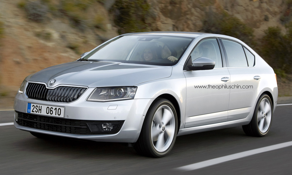 2013 skoda octavia hatchback rendering autoevolution. Black Bedroom Furniture Sets. Home Design Ideas