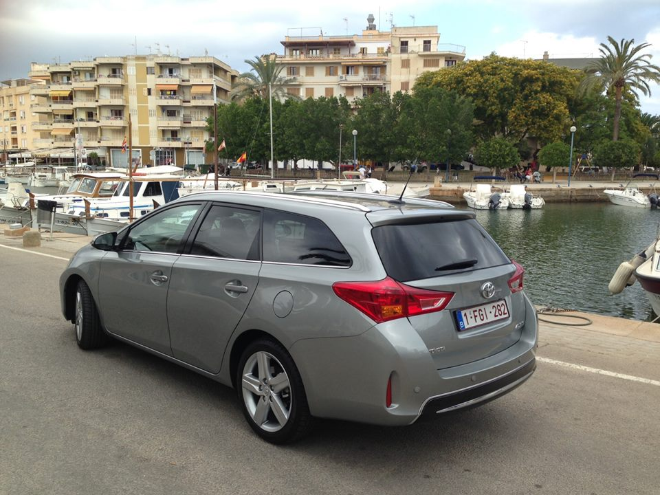 2013 toyota auris touring sports launching in majorca. Black Bedroom Furniture Sets. Home Design Ideas