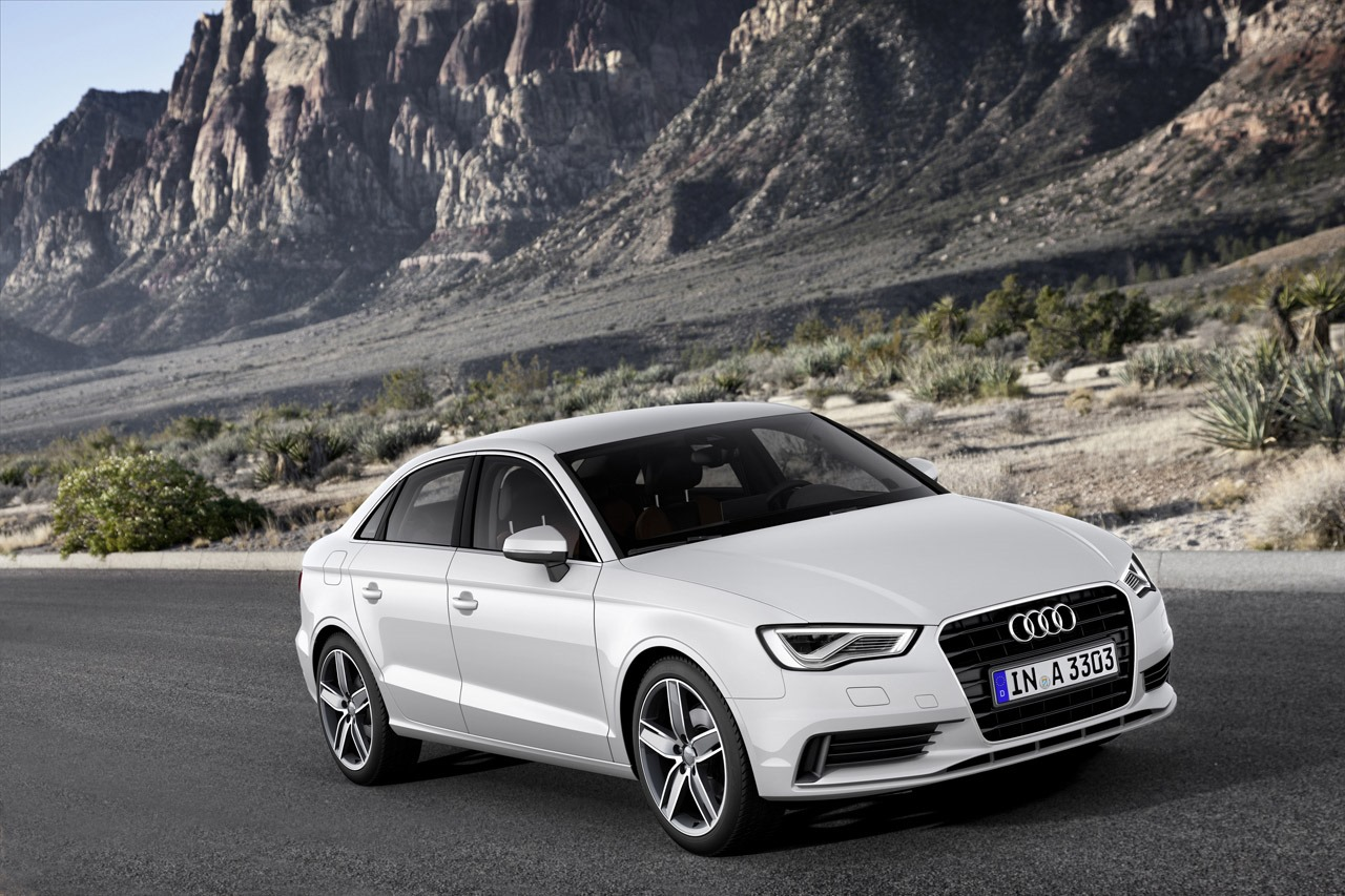 2014 audi a3 sedan revealed autoevolution. Black Bedroom Furniture Sets. Home Design Ideas