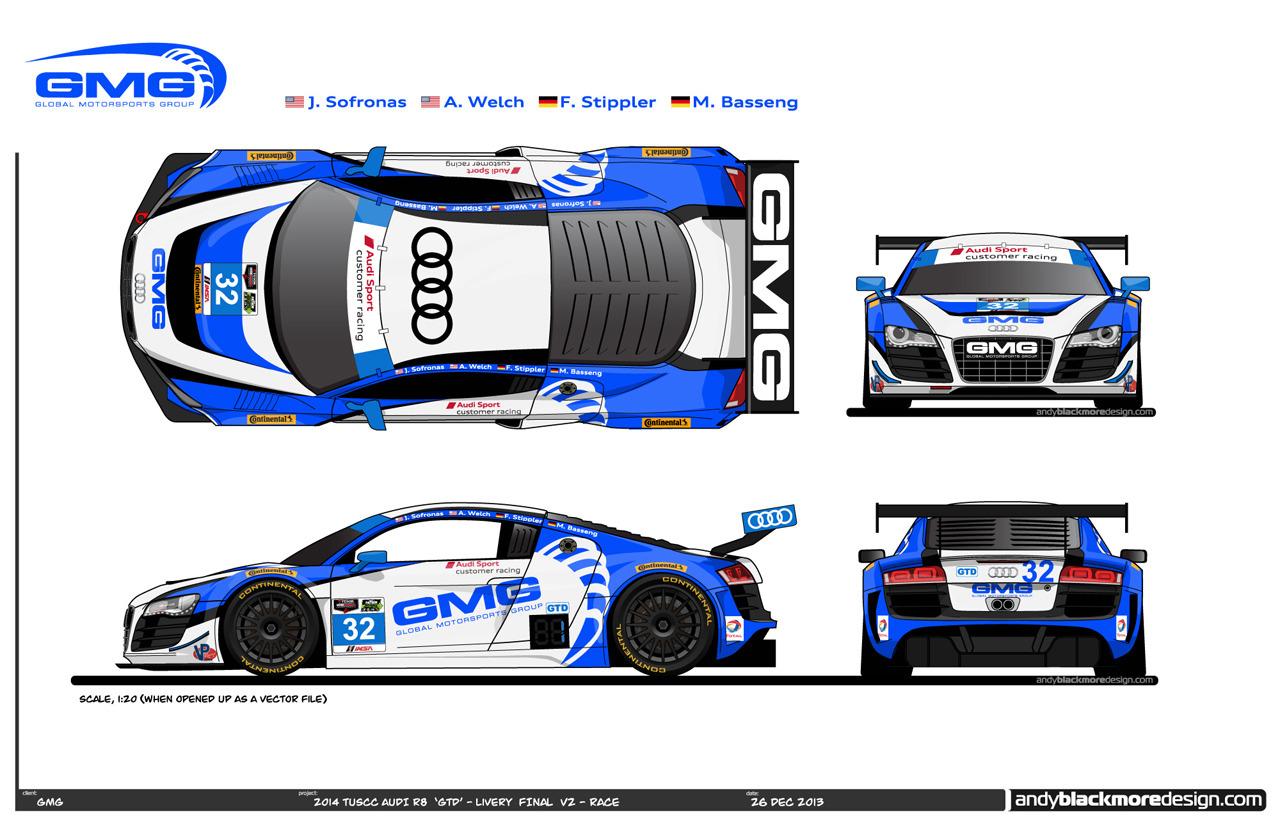 2014 Audi R8 Lms Drivers Liveries Unveiled Before Daytona