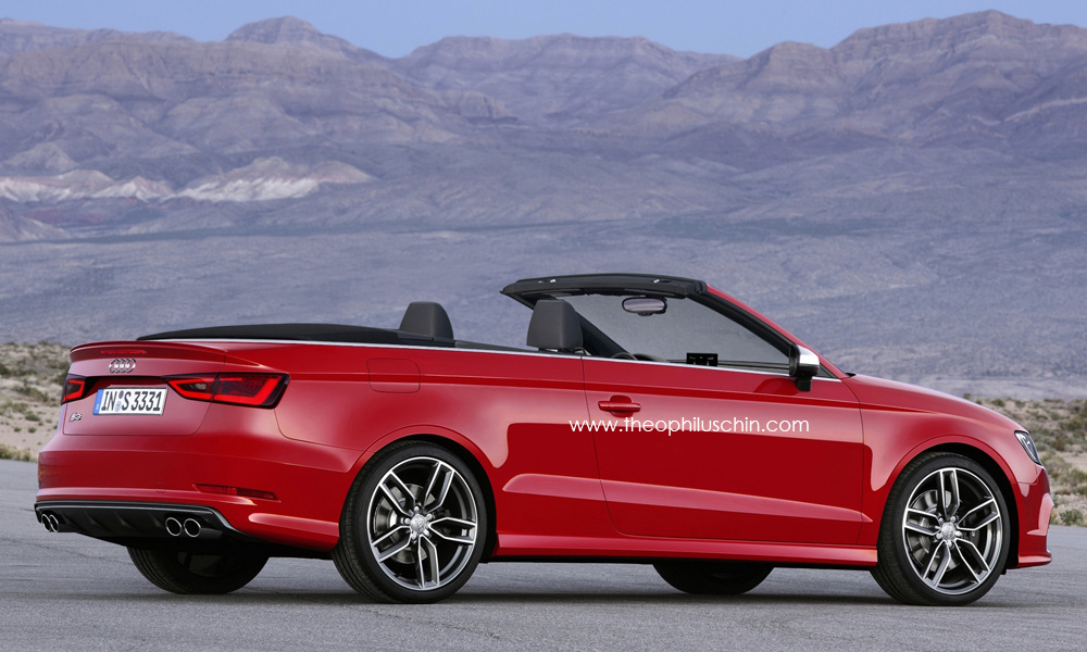 2014 audi s3 cabriolet rendering autoevolution. Black Bedroom Furniture Sets. Home Design Ideas