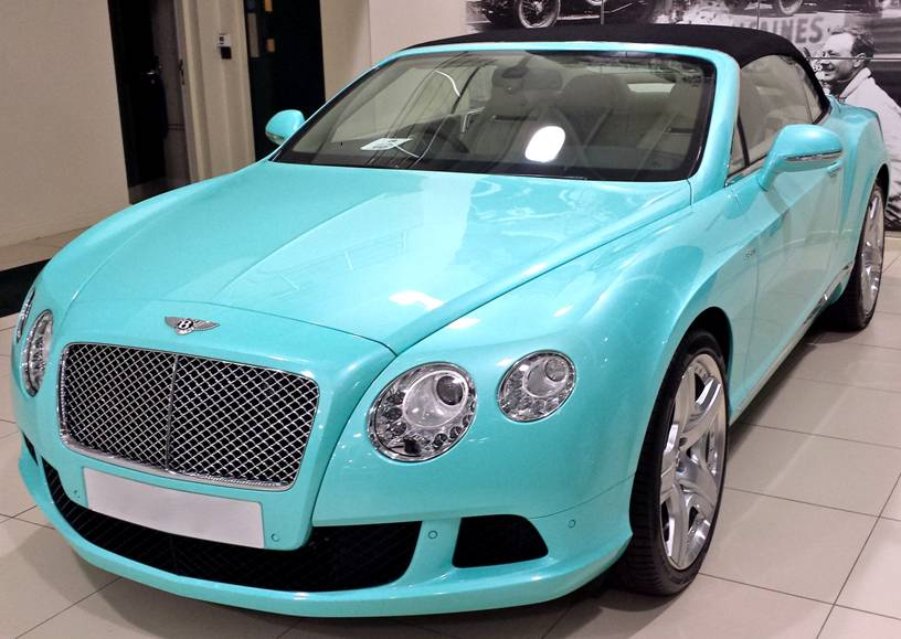 2014 Bentley Continental Gtc Gets Tiffany Blue Color In