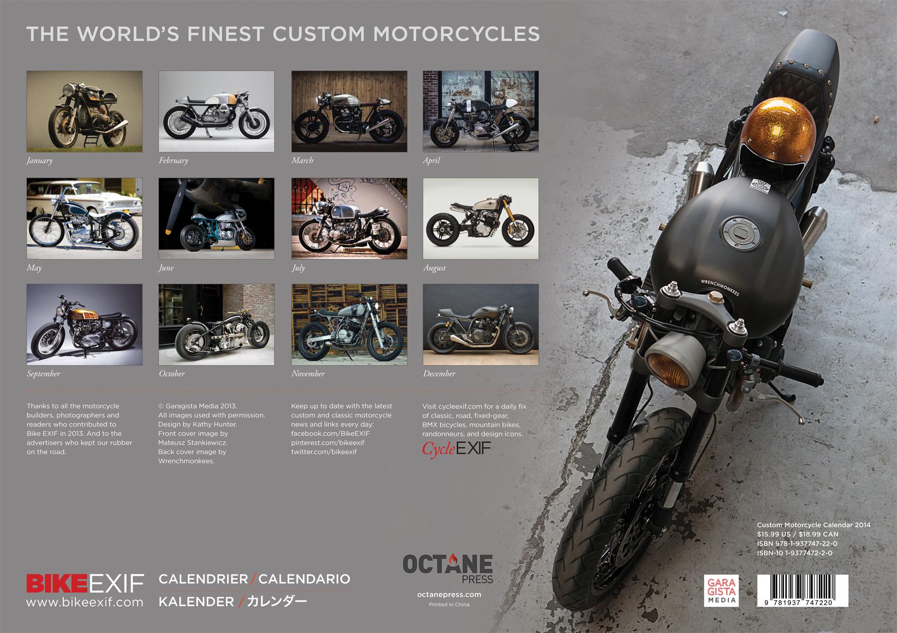 Bike Exif Calendar 2014 Bike EXIF Custom
