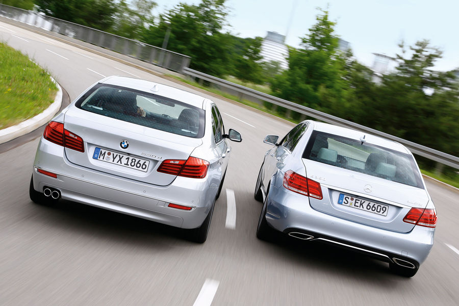 2014 bmw 530d vs mercedes benz e350 bluetec comparison for Bmw and mercedes benz