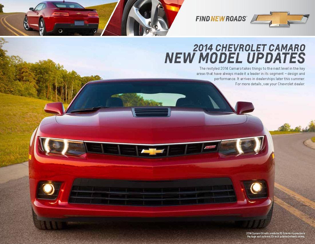 2014 Chevrolet Camaro Details Revealed by Dealer Brochure ...
