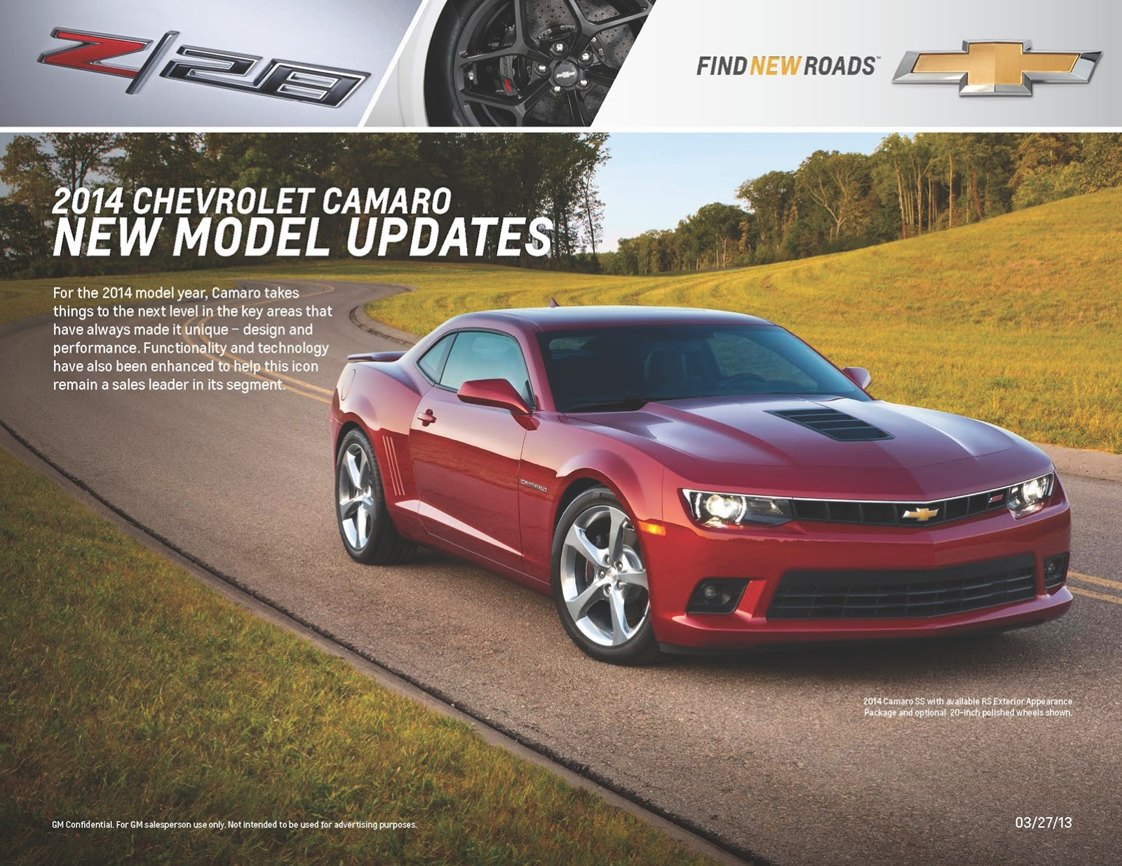 2014 Chevrolet Camaro Details Revealed By Dealer Brochure