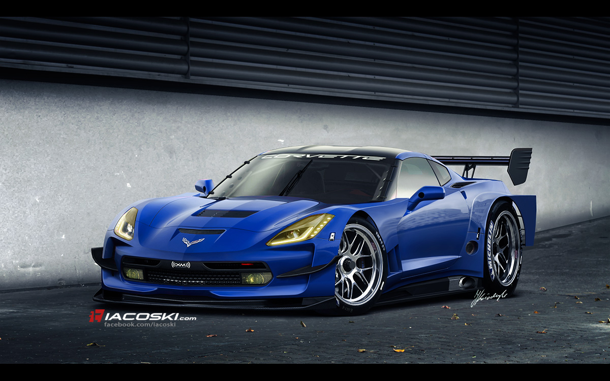 2014 Corvette C7.R Race Car Rendered
