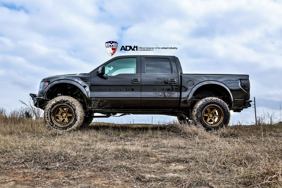 2014 ford f 150 raptor on adv1 wheels autoevolution - Black Ford F150 Raptor 2014