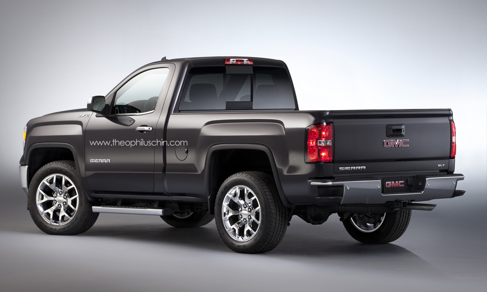 2014 gmc sierra regular cab rendering. Black Bedroom Furniture Sets. Home Design Ideas