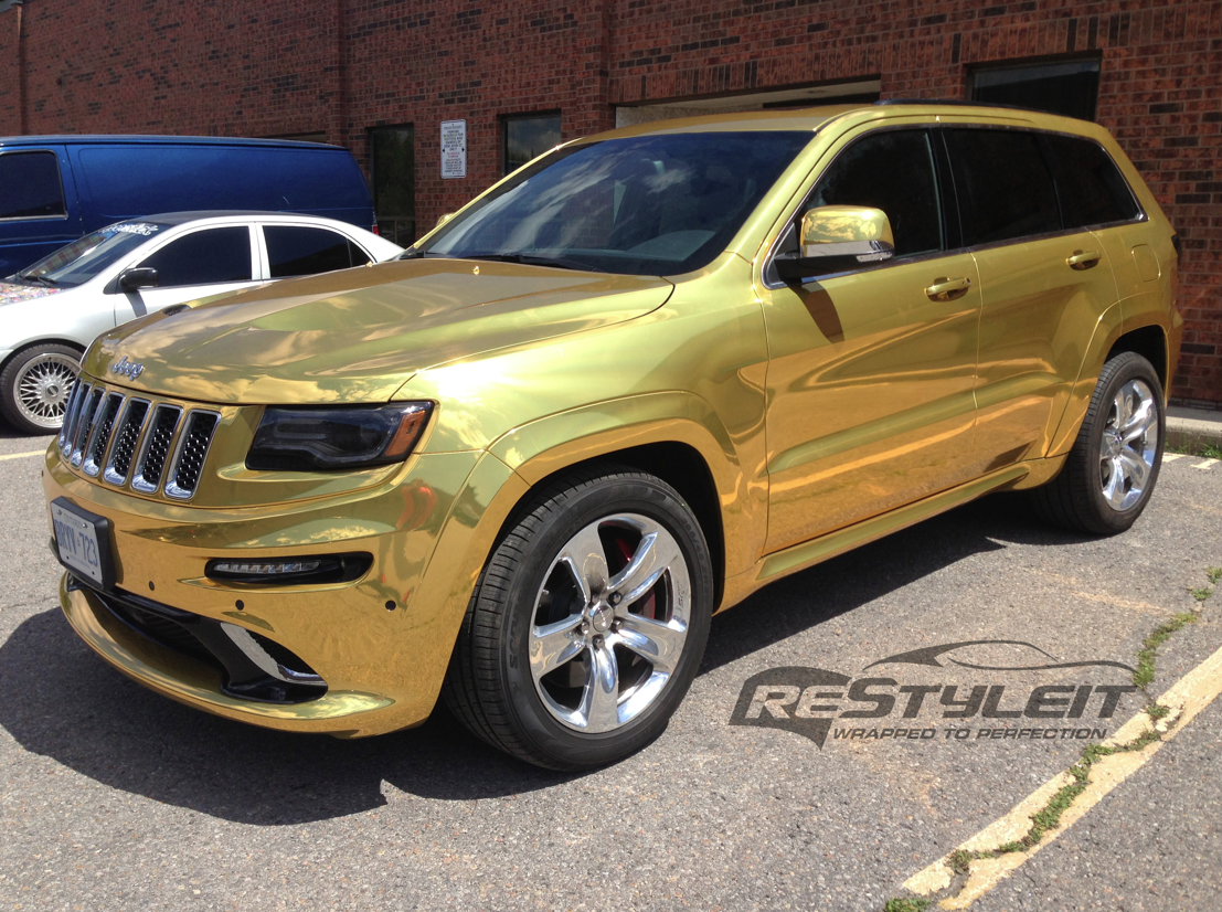 Gold Chrome Wrap Wrapped in Gold Chrome