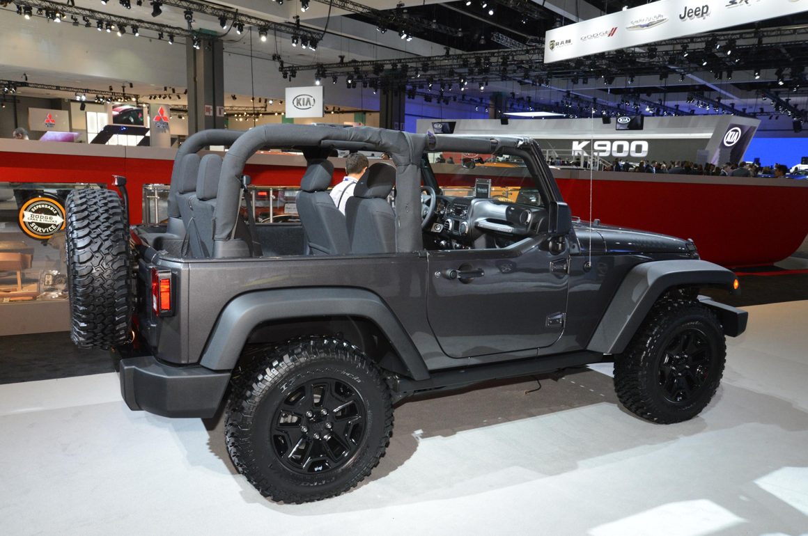 2014 Jeep Wrangler Willys Wheeler Edition Makes Public ...