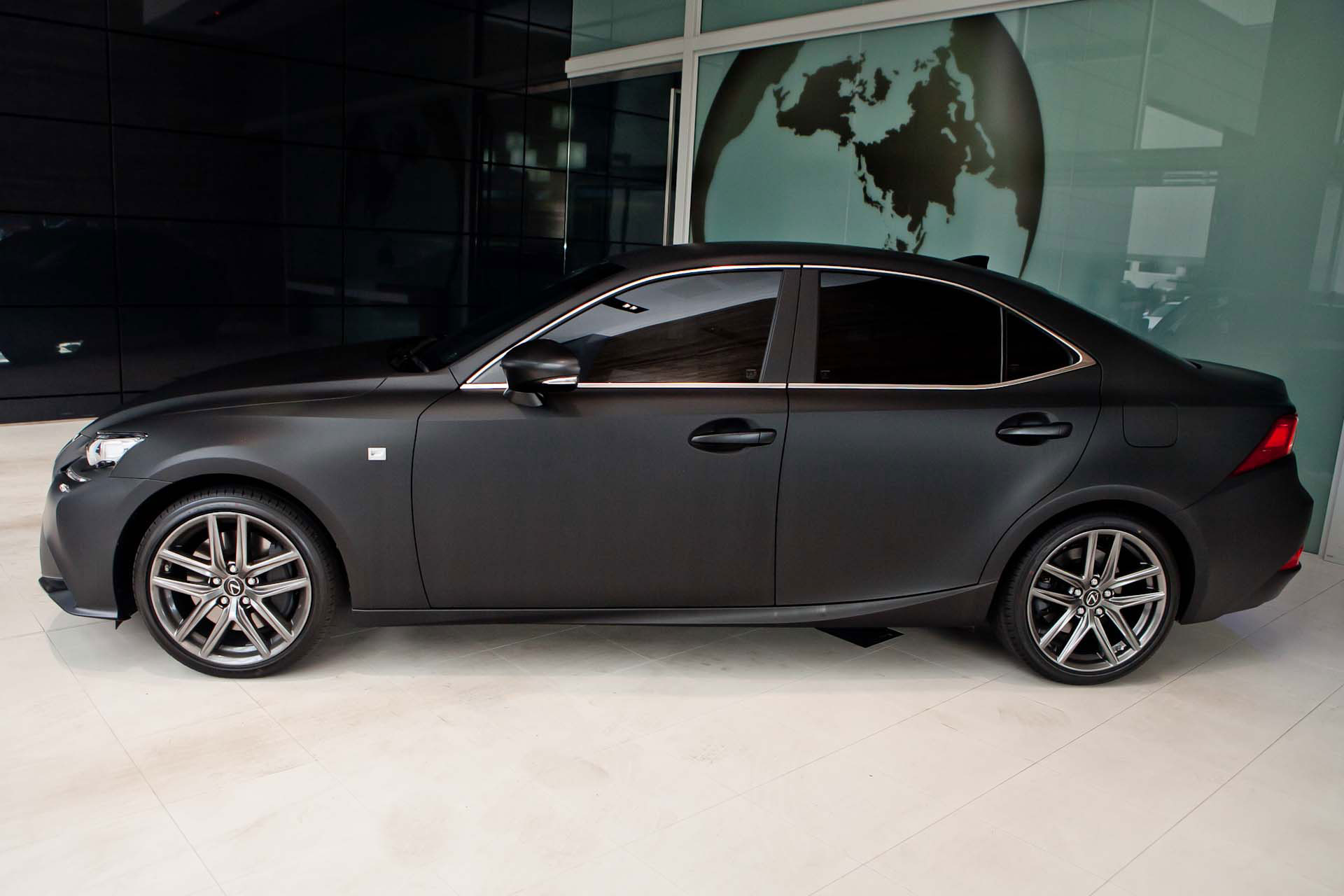 2014 Lexus IS Launched with Matte Black Wrap in Australia ...