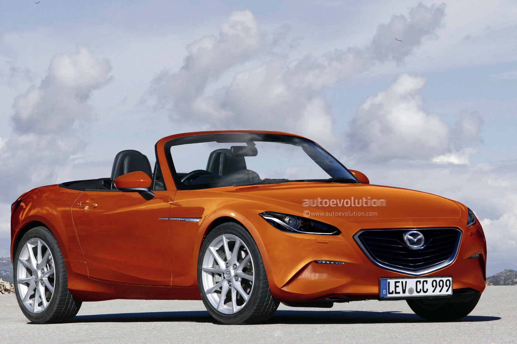 2014 mazda mx 5 miata 1 3l turbo rendering autoevolution. Black Bedroom Furniture Sets. Home Design Ideas