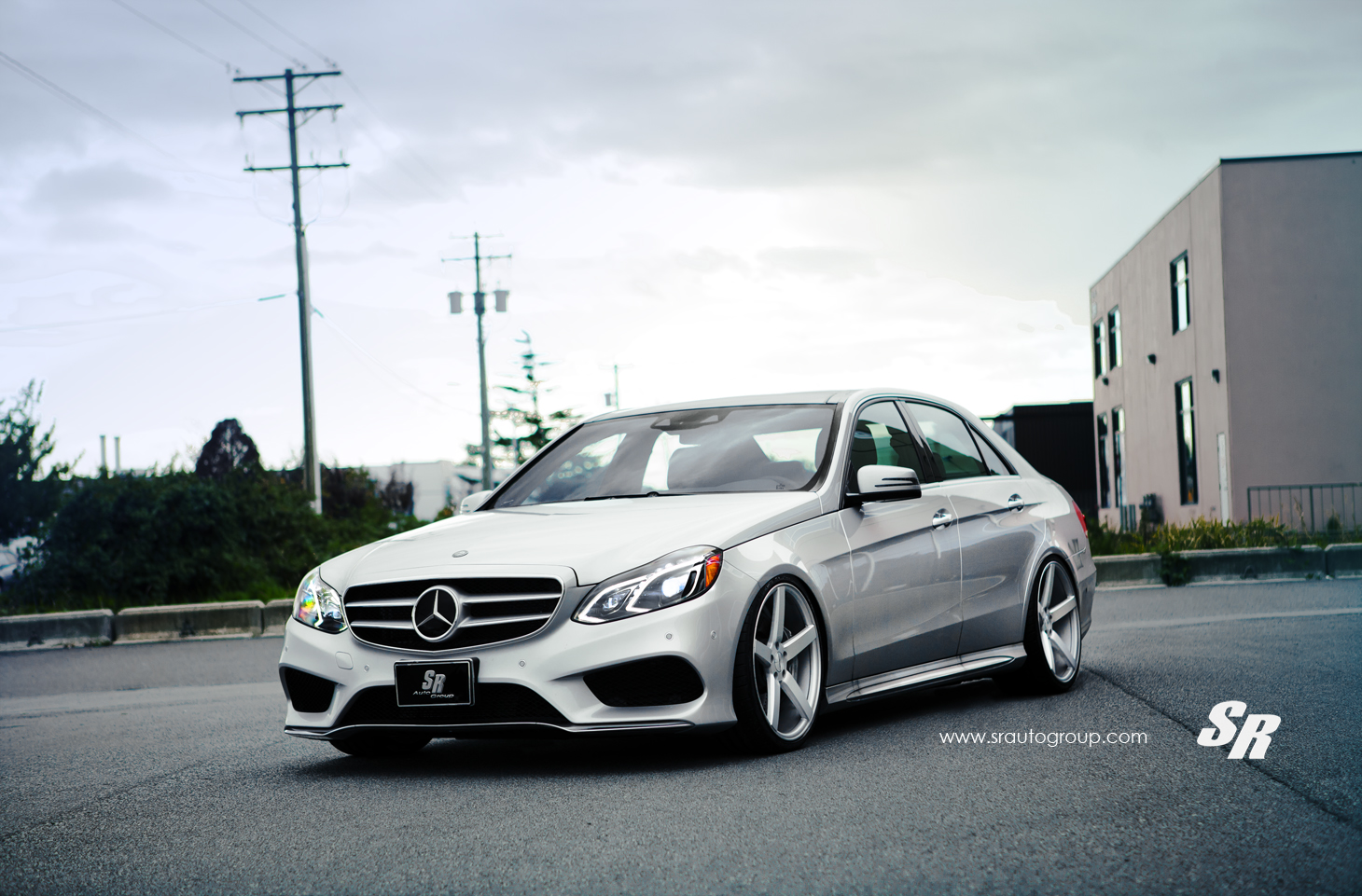 2015 Ford E350 >> 2014 Mercedes E550 Gets Lowering Springs and Vossen Wheels ...