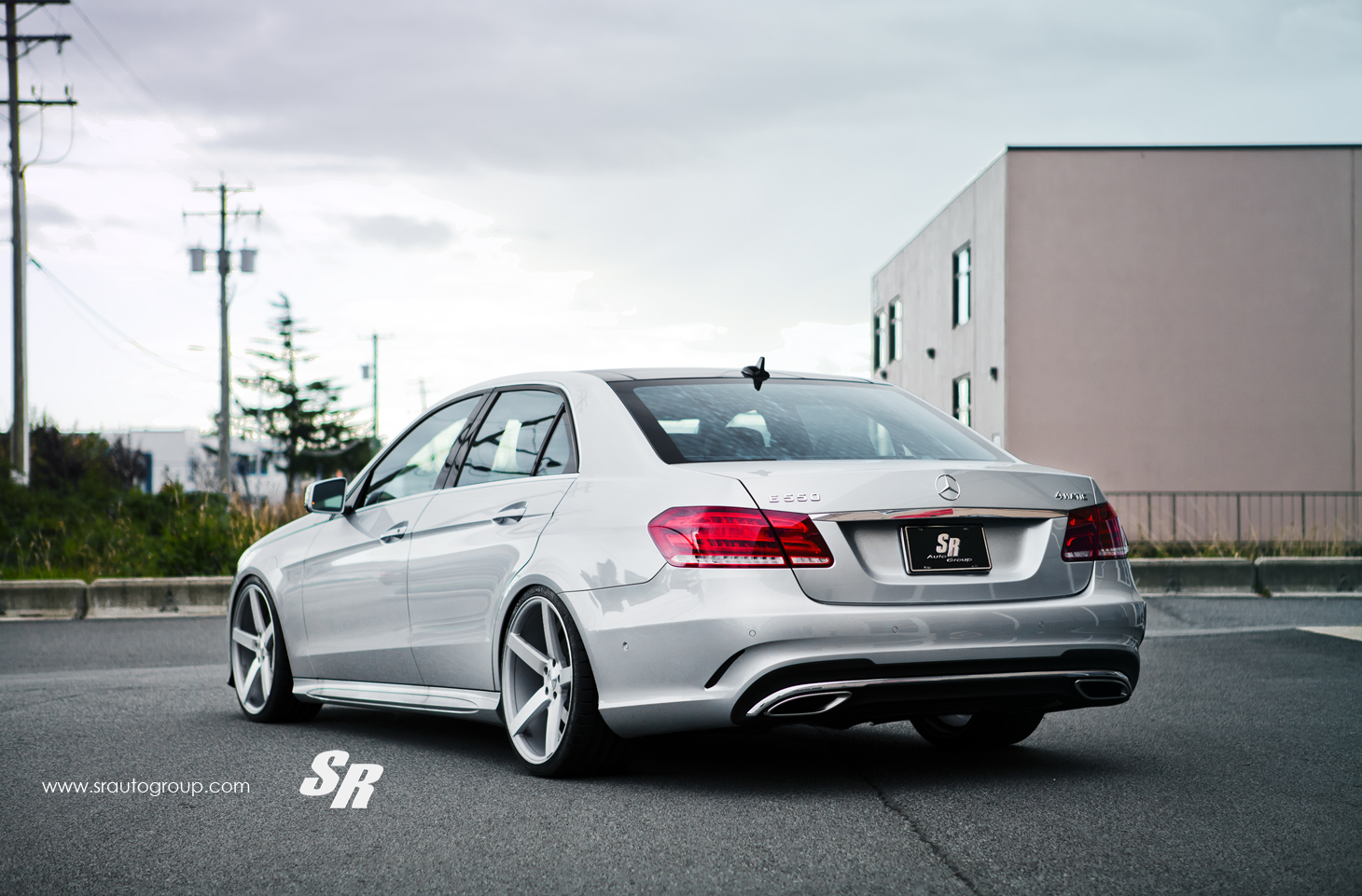 2014 Mercedes E550 Gets Lowering Springs And Vossen Wheels