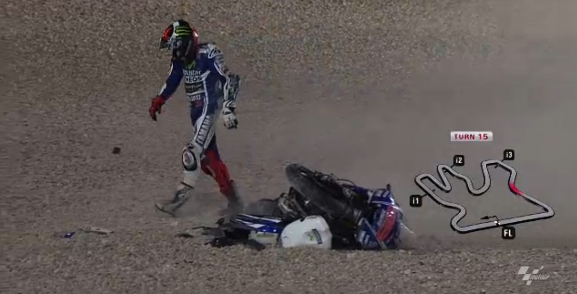 2014 MotoGP: Lorenzo Admits Making a Mistake before Crashing in Lap 1 in Qatar - autoevolution