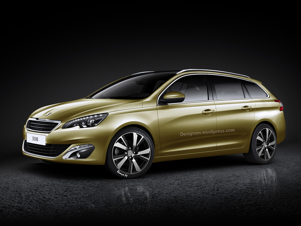 2014 peugeot 308 sw rendered autoevolution. Black Bedroom Furniture Sets. Home Design Ideas
