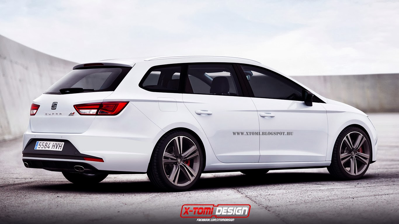 2014 seat leon st cupra rendered as debut looms. Black Bedroom Furniture Sets. Home Design Ideas